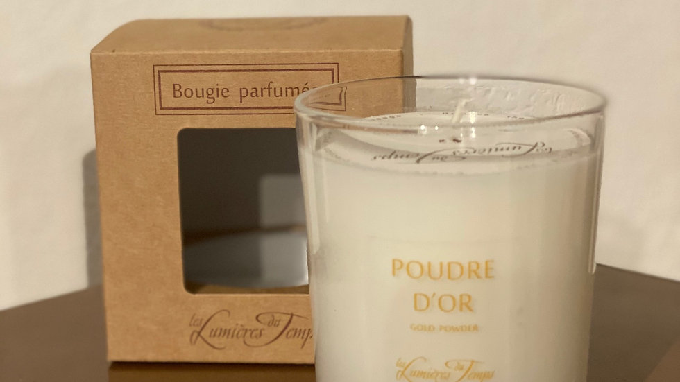 BOUGIE 180GR POUDRE D'OR