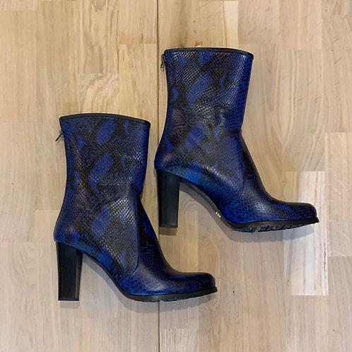 2103 Kobaltblauw/zwart laars rits ColetteSol