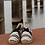 Thumbnail: 0506 Zwartwit gestreepte espadrille sleehak Toni Pons