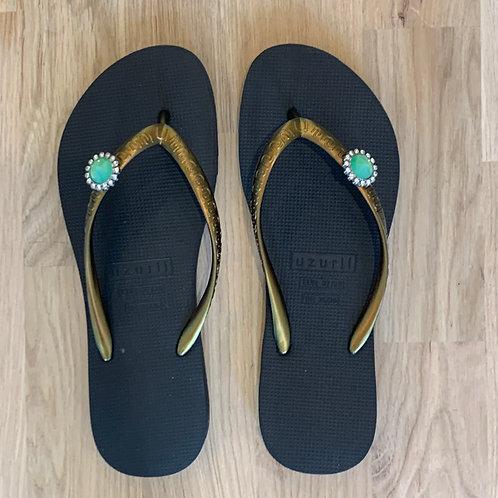 0522 Zwarte slipper Uzurii