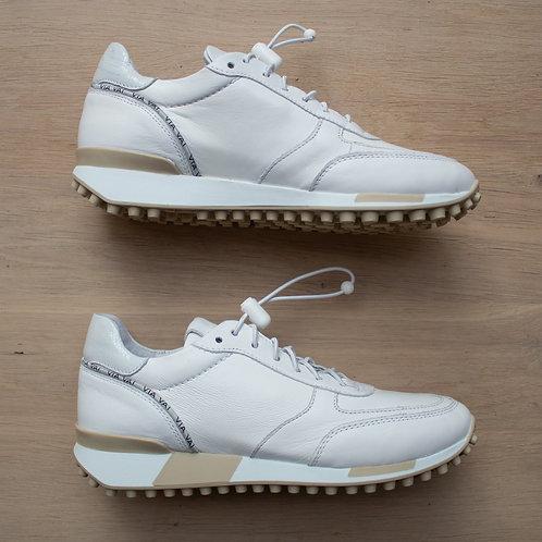 0164 Witte leren sneaker ViaVai