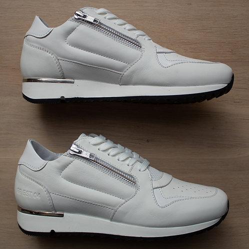 0608 Witte sneaker met rits RegRag