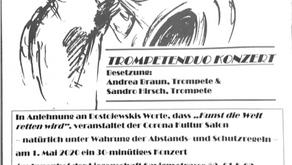 """""""Balkonkonzert"""" als neues Konzertformat während der Corona Krise in Frankfurt am Main"""