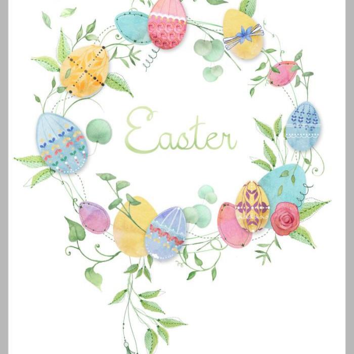 Chasse aux oeufs de Pâques.