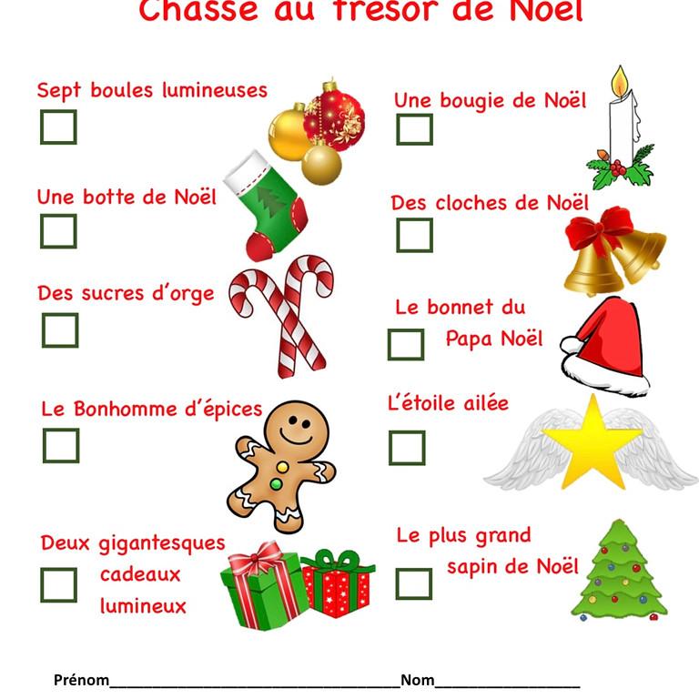 Chasse au trésor de Noël
