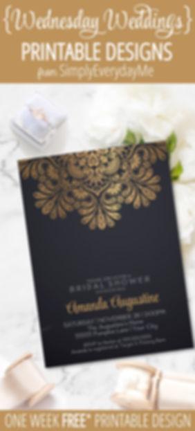 Wednesday Wedding-madalion Shower invite