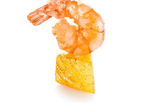 Канапе с креветкой и ананасом на пипетке с лимонным соусом, 25гр