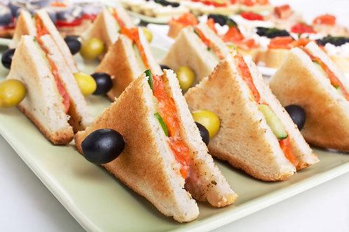 Мини-сэндвичи с красной рыбой, 35гр