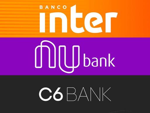 Qual o melhor banco digital? Nubank, Inter ou C6 Bank?