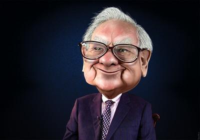 Warren Buffett caricatura.