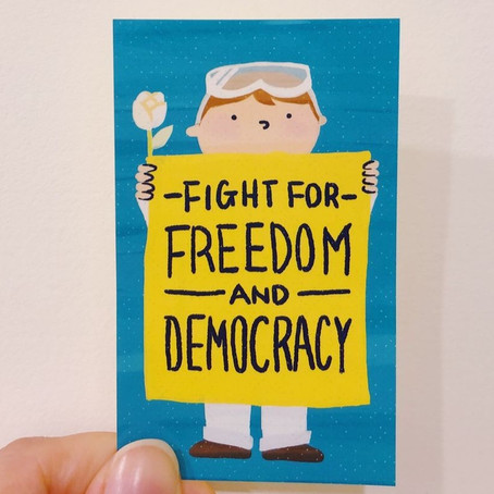 """""""Fight for Freedom and Democracy"""" A4 / Stickers Download"""