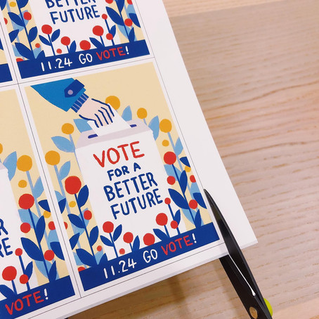 """""""Vote For A Better Future"""" A4 / Stickers Download"""