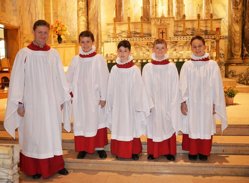 Investiture of new choristers
