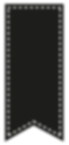 Black Forked Ribbon