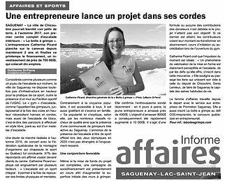 La Boîte à Grimpe, escalade Saguenay - Médias - Informe Affaires