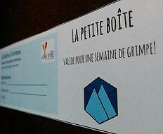 La Boîte à Grimpe, escalade Saguenay - La Petite Boîte