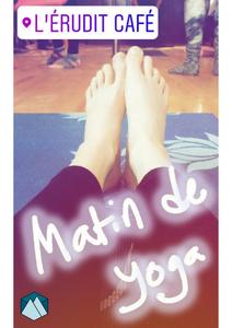 Yoga matinal - La Boîte à Grimpe est à l'Érudit Café
