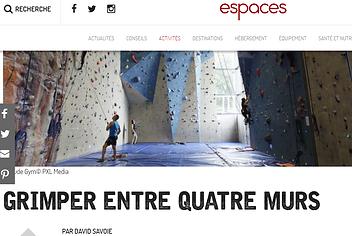 La Boîte à Grimpe, escalade Saguenay - Médias - Espaces