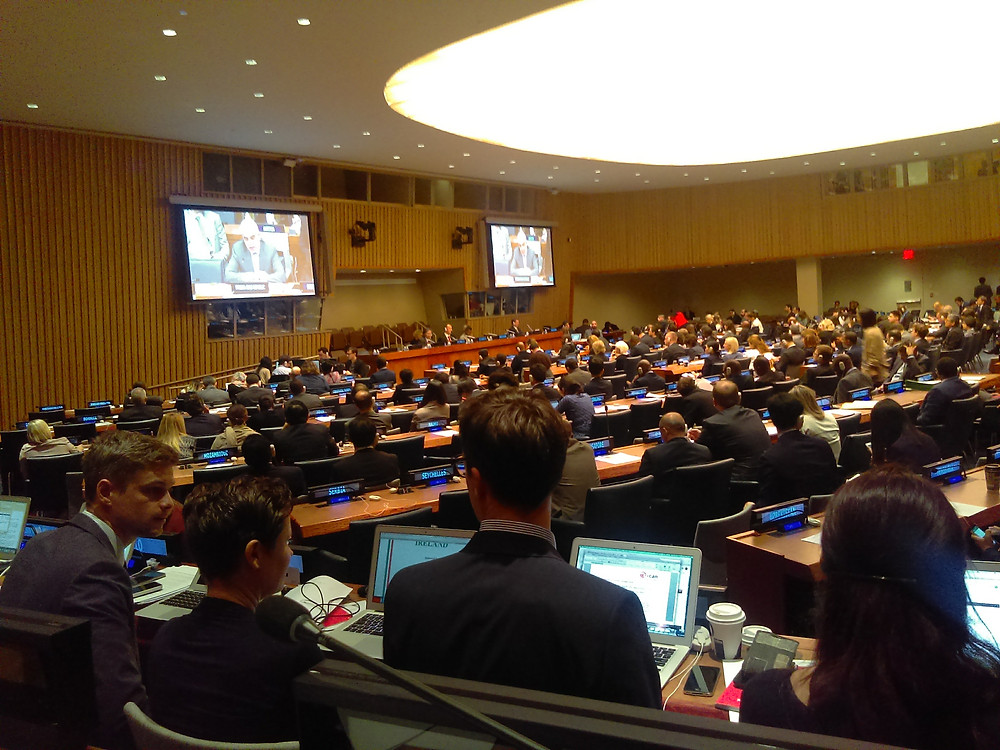ICAN members in action at the UN