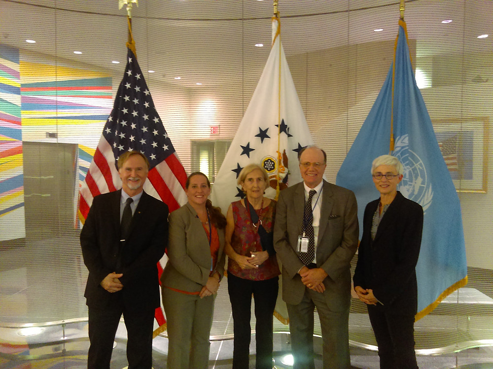 PSR Security Committee members with Ms. Peggy Kerry, NGO Liaison, Mission to the United Nations at United States Department of State