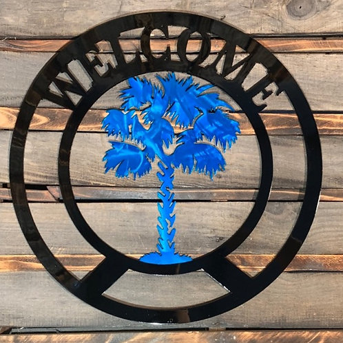 Welcome with Palmetto Tree
