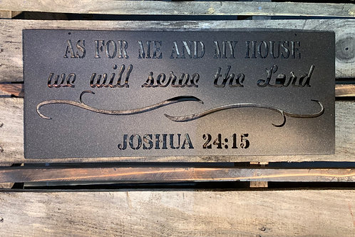 As For Me And My House : Joshua 24:15