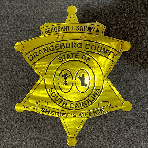 Orangeburg County Sheriff Badge