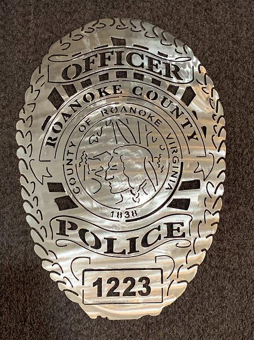 Roanoke County Police Badge