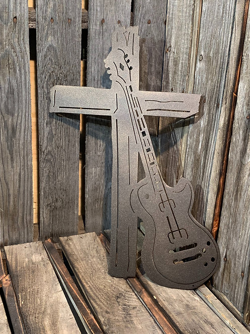 Cross with Guitar