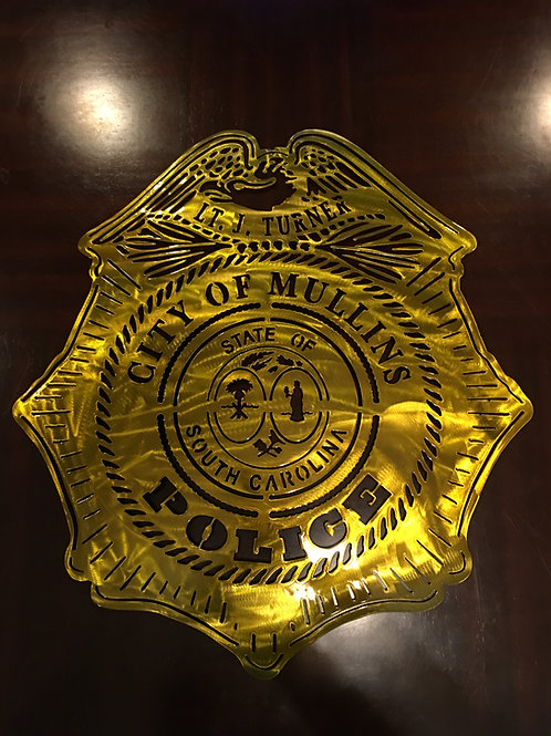 City of Mullins Police Badge
