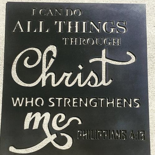 "All Things Through Christ - 22"""