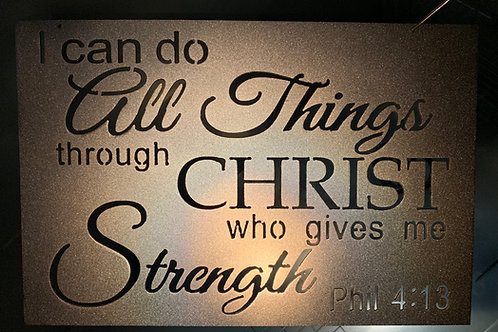 I Can Do All Thinngs - Phil 4:13