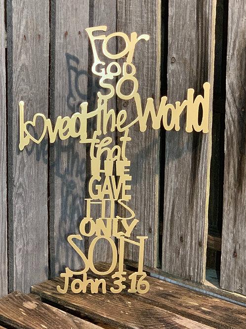 John 3:16 - Cross