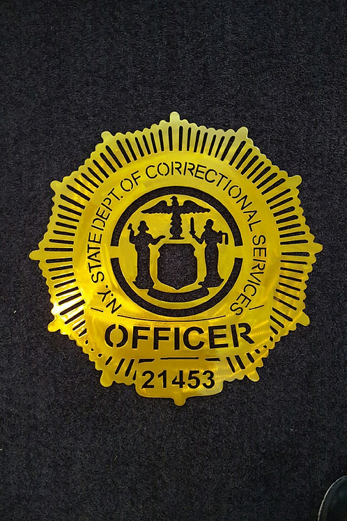 New York Dept of Correctional Services Badge