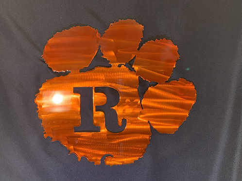 Tiger Paw with Initial