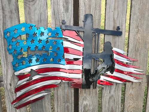 Lineman American Distressed Flag