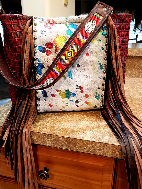 Beaded Dice Shoulder Bag