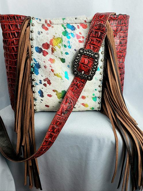 Rainbow Acid Wash Crossbody Bag