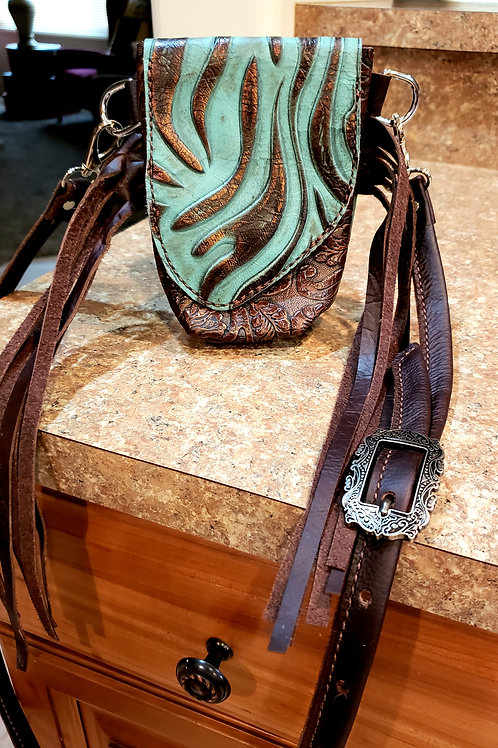 Turquoise and Copper Simba Stadium Approved Crossbody Bag