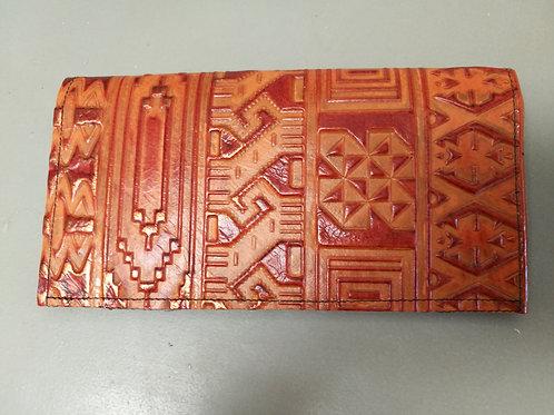 Orange and Bronze Checkbook Cover