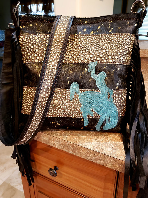 Western Glam Bronc Rider Crossbody Bag