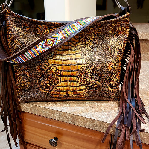Beaded Serape Shoulder Bag
