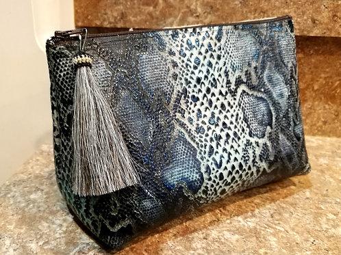 Deep Blue Freestanding Cosmetic Bag