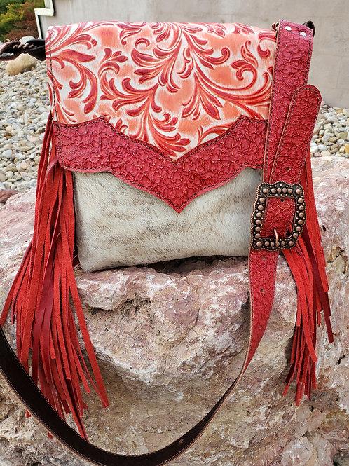 Red Valentina Crossbody Bag