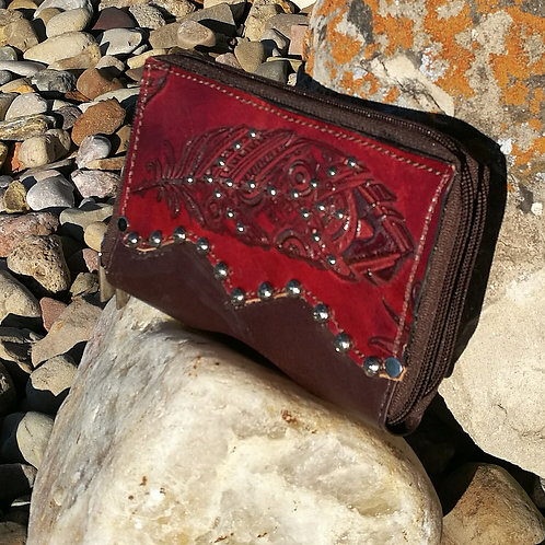 Preorder Red feather organizer wallet. Ships in one week.