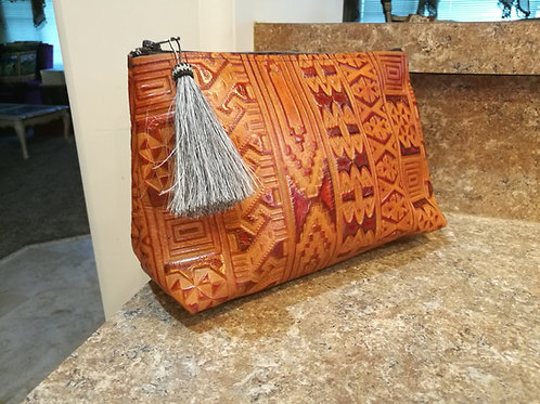 Orange Cosmetic Bag
