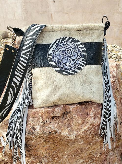 Rose Zebra Crossbody Bag