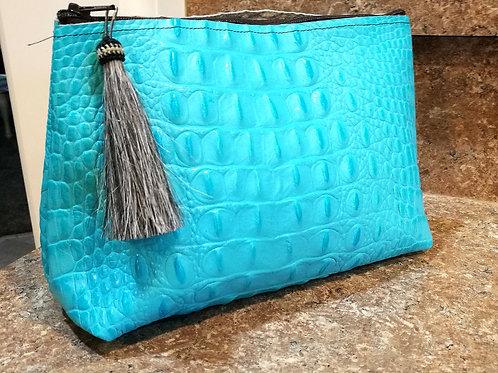 Turquoise Makeup Bag