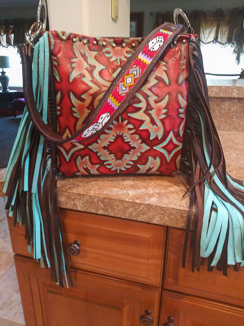 Beaded Dice Shoulder Bag