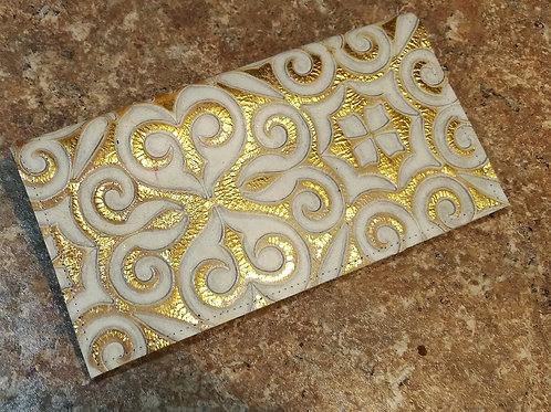 Gold Checkbook Cover